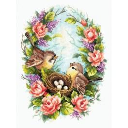 Cross stitch kit - Family nest