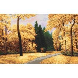 Zestaw z muliną - Park jesienią