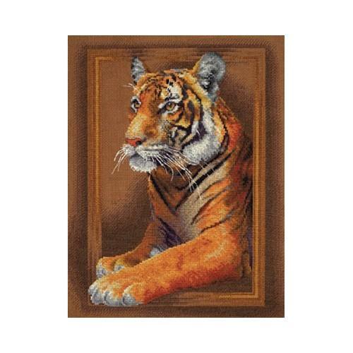 PAJ 0966 Cross stitch kit - Tiger