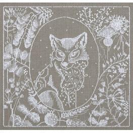 Zestaw z muliną - Koronkowy lis