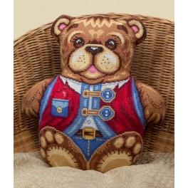 PAPD 1604 Cross stitch kit - Mr. Teddybear