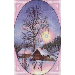 Zestaw z muliną - Zimowy wieczór