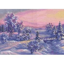 Cross stitch set - Winter sun rise