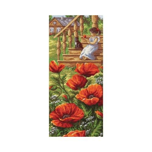 Cross stitch set - Poppy porch