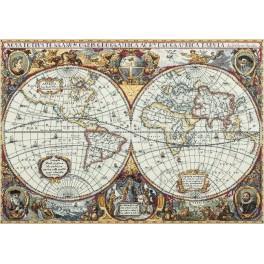 Zestaw z muliną - Mapa świata