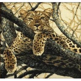 Cross stitch kit - Leopard