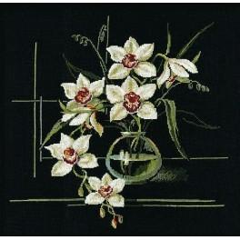 Cross stitch kit - White orchid
