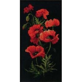 Cross stitch kit - Poppies