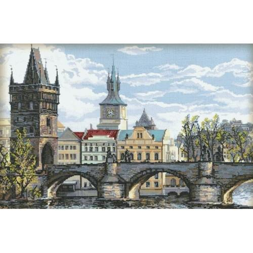 Cross stitch kit - Charles Bridge - Prague