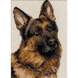 Cross stitch kit - German Shepherd