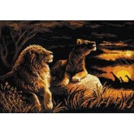 Cross stitch kit - Lions in the Savannah