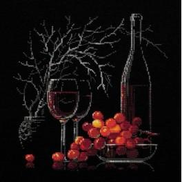 Cross stitch kit - Still Life with Red Wine