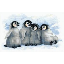 Cross stitch kit - Funny Penguins