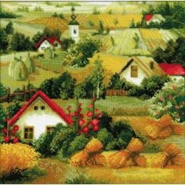 Zestaw z włóczką - Serbski krajobraz
