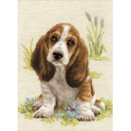 Cross stitch kit - Basset Puppy
