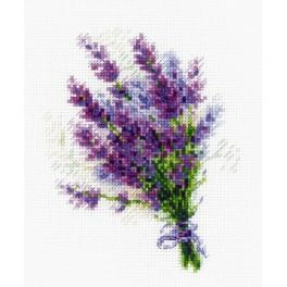 Cross stitch kit - Bouquet with lavender