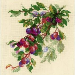 Cross stitch kit - Branch of plum
