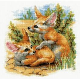 Zestaw z włóczką - Pustynne liski