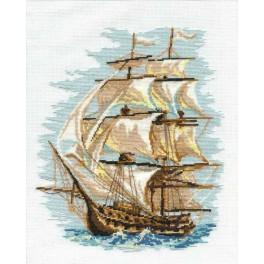 Cross stitch kit - Sailing-ship