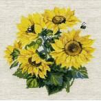 Kit with yarn - Sunflowers
