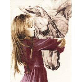 RSV 016 Cross stitch kit - Girl with a horse