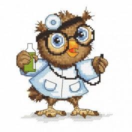 Cross stitch kit - Small owl - doctor
