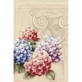 Cross stitch kit - Hydrangeas