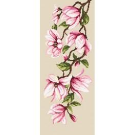Cross stitch kit - Delicate magnolias