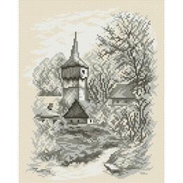 Zestaw z muliną - Kościółek