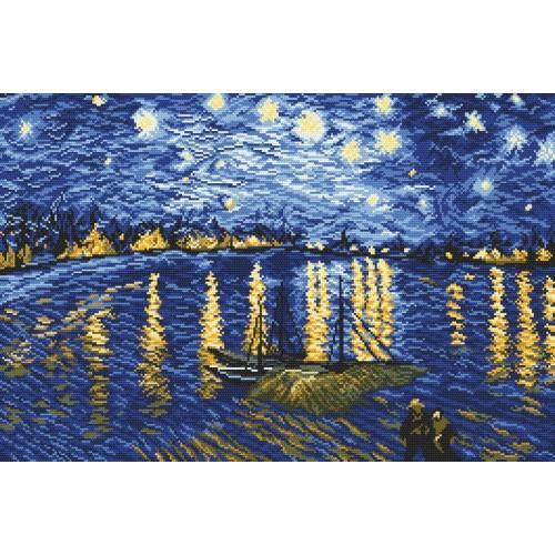 Cross stitch kit - Starry Night Over the Rhone - V. van Gogh