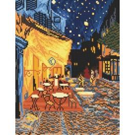 Z 4345 Cross stitch kit - Night Café - Vincent Van Gogh