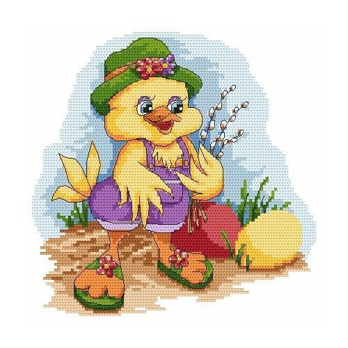 Z 4865 Cross stitch kit - Duck with a sambucus