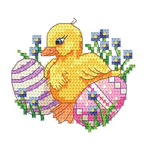 Z 4920 Cross stitch kit - Duck with forget-me-not