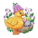 Z 4921 Cross stitch kit - Duck with bellflower
