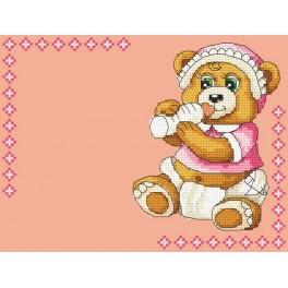 Z 4936-01 Cross stitch kit - Birth certificate for girl