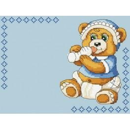 Z 4936-02 Cross stitch kit - Birth certificate for boy