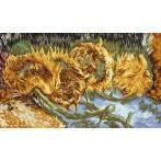Cross stitch kit - Four Cut Sunflowers - V. Van Gogh