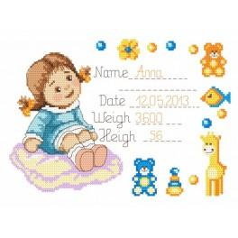 Z 8284 Cross stitch kit - Anne's welcome