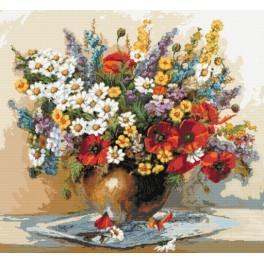 Cross stitch kit - Bouquet of wildflowers