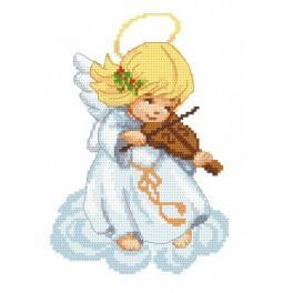 Zestaw z muliną - Aniołek ze skrzypkami