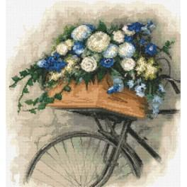 Cross stitch kit - Bicycle with flowers