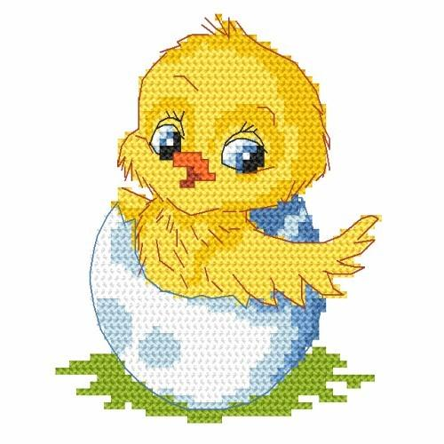 Z 8351-02 Cross stitch kit - Easter chick
