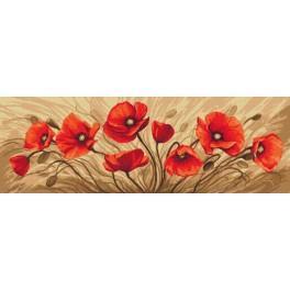 Cross stitch kit - Field of poppies