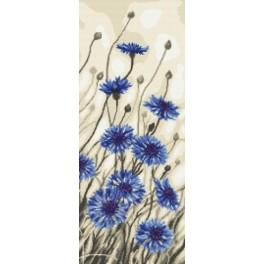 Zestaw z muliną - Kwiaty chabru