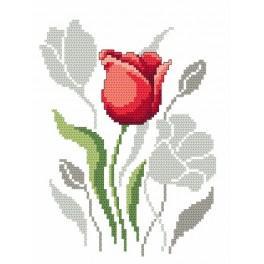 Zestaw z muliną - Wiosenne kwiaty – Tulipany