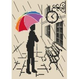 Zestaw z muliną - Kolorowa parasolka – W oczekiwaniu