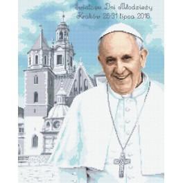 Z 8640 Cross stitch kit - Pope Francis in Krakow
