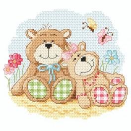 Cross stitch kit - Sweet teddy bears