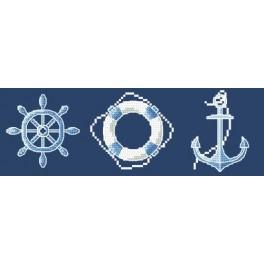 Cross stitch kit - Sailor motives