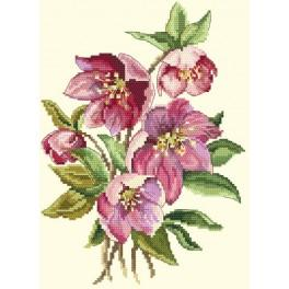 Cross stitch kit - Flowers of winter